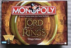 MONOPOLY LORD OF THE RINGS TRILOGY EDITION Includes RING! COMPLETE