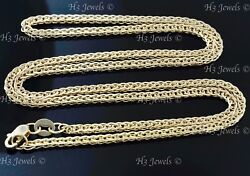 8.70 gram 18k solid yellow gold wheat foxtail chain necklace 24 inch #7091 $698.00
