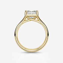 CERTIFIED 18K YELLOW GOLD 4 PRONGS 1 12 CT SOLITAIRE PRINCESS DIAMOND RING