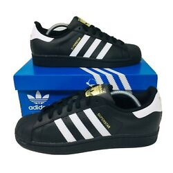 *NEW*Adidas Originals Superstar Foundation Men's Athletic Sneakers Black Shoes