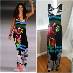 NWT Desigual Septiembre Runway  Adriana Lima Maxi Floral dress size M Medium