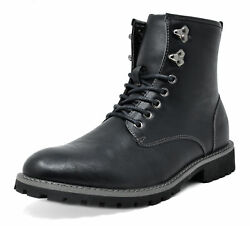 Bruno Marc Mens Lace Up Motorcycle Combat Boots Oxford Leather Dress Ankle Boots $17.99