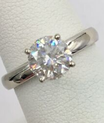 14K White Gold 1.40ct Solitaire GIA Certified Diamond Engagement Ring I1 F