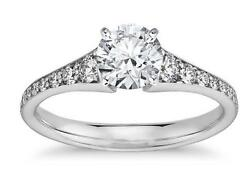 2.58 Ct Brilliant Cut Solitaire Diamond Engagement Ring Solid 14k White Gold