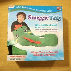 Snuggie Tails Green Dragon Cuddly Kids Blanket Christmas Gift Super Soft Cozy $20.69
