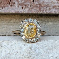 antique sapphire ring yellow gold size 6