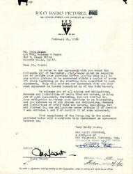 CARY GRANT - CONTRACT SIGNED 02241956