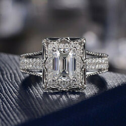 Gorgeous Wedding Rings Women 925 Silver Jewelry White Sapphire Ring Size