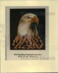 1992 Press Photo Poster for the Republican National Convention Houston Texas