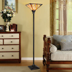 Tiffany Style Mission 1 Light Torchiere Floor Lamp w 14quot; Shade Home Decoration $109.49