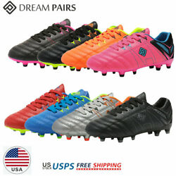 DREAM PAIRS Kids Girls Boys Soccer Shoes Outdoor Soccer Cleats Shoes Trainers $22.87