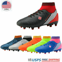 DREAM PAIRS Boys Soccer Shoes Kids Outdoor Sport Football Soccer Cleats Sneakers $22.94