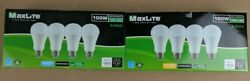 4 Pack Maxlite LED Light Bulbs 15W A19 100W Replacement Daylight or Softwhite $9.74