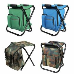 Portable Folding Camping Chair Stool Backpack Travel Hiking Bag Beach Outdoor  $16.86