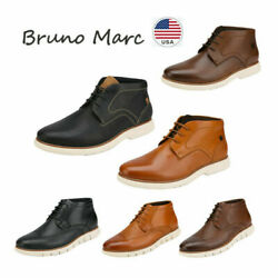 Bruno Marc Men#x27;s Casual Dress Chukka Genuine Leather Lace Up Oxford Ankle Boots $22.99