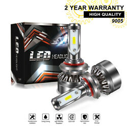 TURBOSII 9005 HB3 LED Headlight Bulb High Beam Kit 6000K 12000LM White With Fan