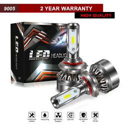 TURBOSII 9005 LED Headlight Bulb High Beam Conversion Kit 6000K 12000LM White