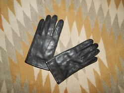 Aris Men#x27;s M Genuine Black Leather Driving Gloves Style 76540 EPOC $24.95