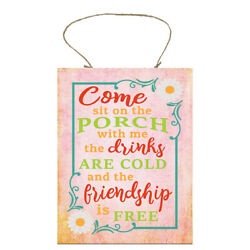 Come Sit on the Porch Handmade Wood Sign