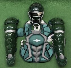 All Star System 7 Axis Youth 10-12 Catchers Gear Set - Dark Green $349.95