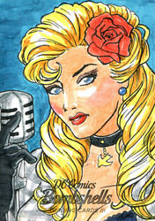 2019 CRYPTOZOIC DC BOMBSHELLS III 3 RUVEL ABRIL SKETCH CARD 11