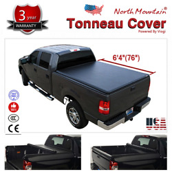 Folding Tonneau Cover Assembly Black Soft Vinyl Roll-Up Fit 6.4' Fleetside Bed