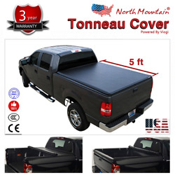 Folding Tonneau Cover Assembly Black Soft Vinyl Roll-Up Fit 5' Fleetside Bed
