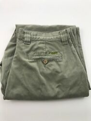 MK Mountain Khakis Pants Men Size 32 x 34 Green Outdoors Hiking