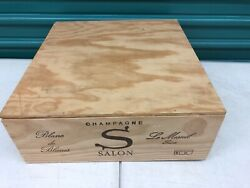 Wine Box Case Wooden Crate 3750ml French Champagne Salon 2002 Blanc De Blancs