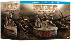 SPARTACUS COMPLETE SERIES New Blu-ray Limited Edition Seasons 1 2 3 4 + Figurine
