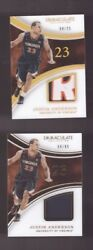LOT OF 2 2016 PANINI IMMACULATE COLLECTION JUSTIN ANDERSON PATCH