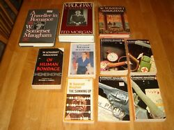Lot of 10 W. Somerset Maugham books hc pb Then and Now Razor's Edge Short story