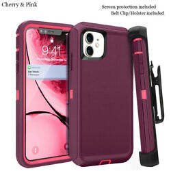 For iphone 11 Case Cover wScreen & Clip fit Otterbox Defender $11.93