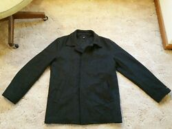 Tommy Hilfiger Wool Business Trench Coat Topcoat. Charcoal Gray. Men's XL Large
