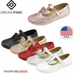 DREAM PAIRS Girls Dress Shoes Kids Princess Flat Shoe School Vintage Party Shoes $11.99