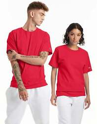 Champion Mens Classic Jersey Tee T Shirt Athletic Fit Ringspun Short Sleeve 0223 $15.00