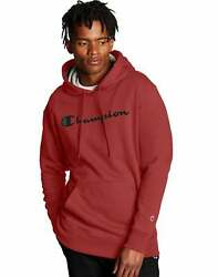 Champion Men#x27;s Athletics Powerblend Hoodie Script Logo $36.27