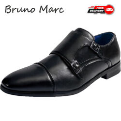 Bruno Marc Mens Leather Shoes Formal Dress Lace Up Comfort Wing Tip Oxford Shoes $29.99