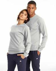 Champion Long Sleeve Tee Shirt Classic Cotton Jersey Athletic fit Activewear Men $15.00