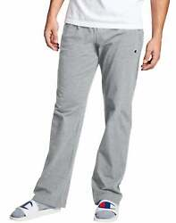 Champion Men#x27;s Open Bottom Jersey Pants Gym w Pockets Authentic Light Weight $16.85