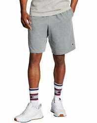 Champion Men#x27;s Shorts Pockets Authentic Cotton 9 Inch Gym Workout Warm Jersey $20.00