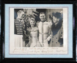 ADORABLE MOVIE CAST - AUTOGRAPHED INSCRIBED PHOTOGRAPH CIRCA 1933 WITH CO-SIGNER