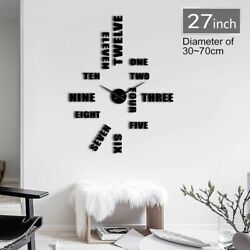 Frameless Wall Clock Simple Quiet Sweep Letter Designs Home Watch Decoration New $21.99