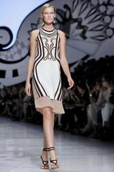 New ETRO Printed Crepe-de-Chine Runway Dress Spring Summer 2012 - Size 42  $2590