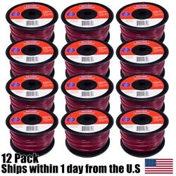 (12) Commercial 1LB Spool Red Line Trimmer Round .105 Diameter 223ft $49.99