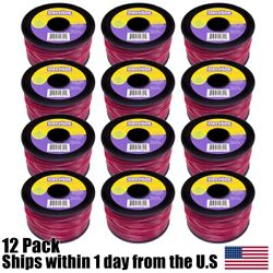(12) Commercial 3LB Spool Red Line Trimmer Round .105 Diameter 853ft $111.99