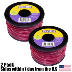 (2) Commercial 3LB Red Round Spool Line Trimmer Round .105 Diameter 853ft $31.99