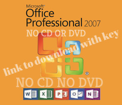 Microsoft Office 2007 Professional Full Version Life Time 5 PCs Fast Delivery