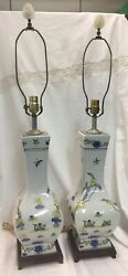Antique Chinese Lamps A Pair $500.00