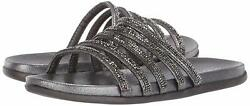 Kenneth Cole Reaction Womens 7 Slim Shimmer Fabric Open Toe Beach Slide Sandals